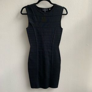 Ted Baker Black Sleeveless Bodycon Dress Size 1